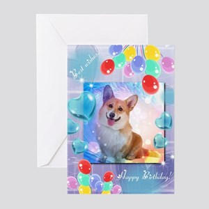 Happy Birthday Corgi Greeting Cards